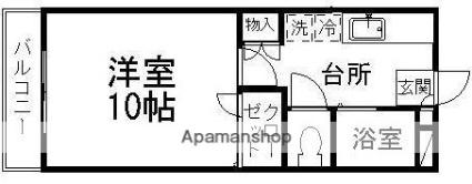 青山パークヒルズA棟[1K/30m2]の間取図