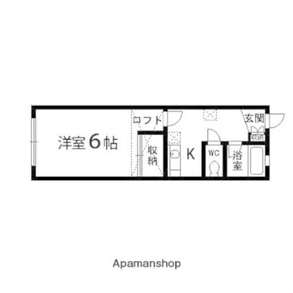 セジュール57[1K/23.6m2]の間取図