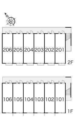 レオパレスSKY MARK[1K/22.35m2]の内装2