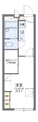 レオパレスSKY MARK[1K/22.35m2]の間取図