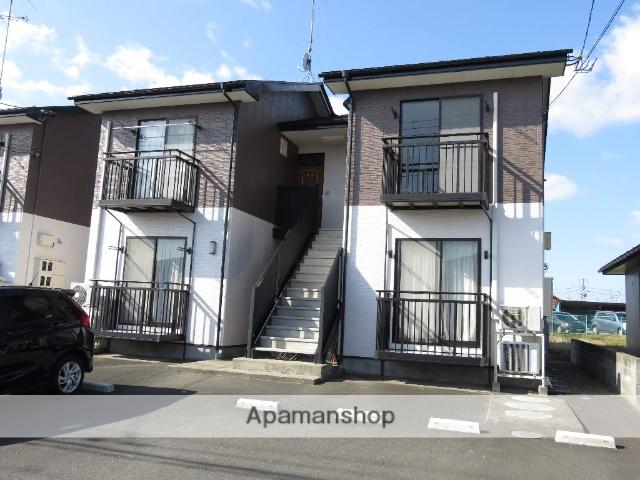 宮城県大崎市の築17年 2階建の賃貸アパート