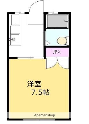コートドール東[1K/23m2]の間取図