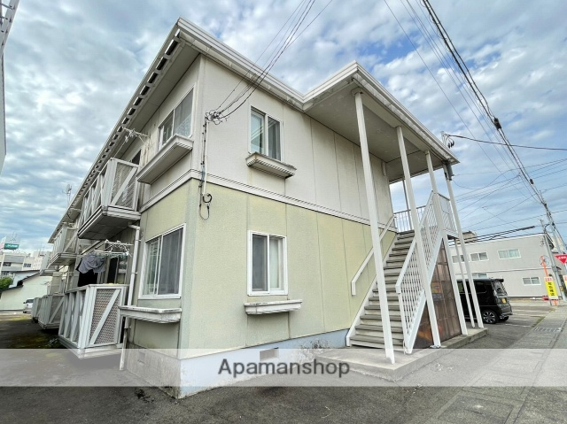 秋田県横手市、横手駅徒歩5分の築24年 2階建の賃貸アパート