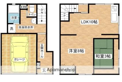佐藤事務所 2F[1LDK/26.44m2]の間取図