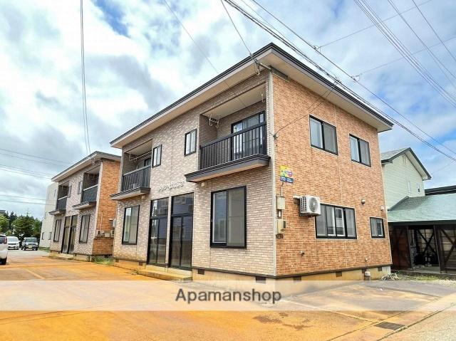 秋田県大仙市、大曲駅羽後交通バス15分錨下車後徒歩1分の築15年 2階建の賃貸アパート