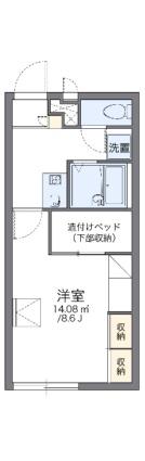 レオパレスグラン フルール[1K/23.18m2]の間取図