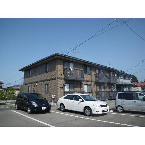 秋田県潟上市、二田駅徒歩5分の築10年 2階建の賃貸アパート