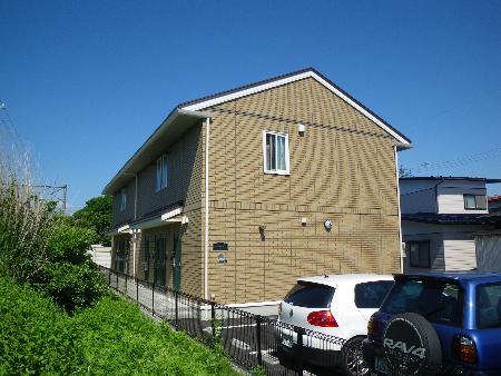 秋田県秋田市、羽後牛島駅徒歩9分の築10年 2階建の賃貸アパート