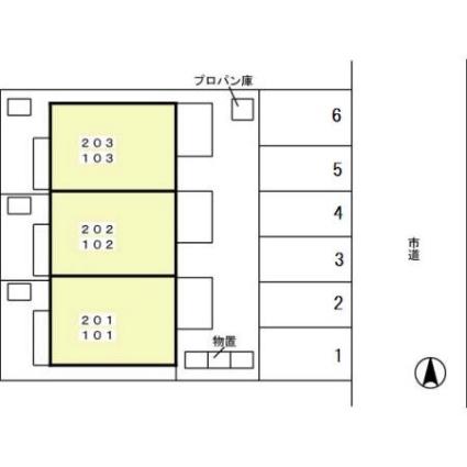 メゾンドワイズマン[1K/25.51m2]の配置図