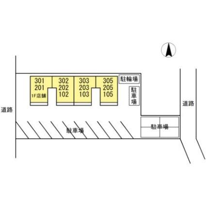 ほどのニッセイハイム[2K/46.37m2]の配置図