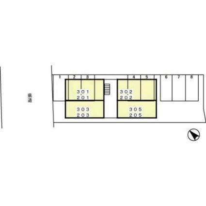 ラーク中町[1LDK/36.45m2]の配置図