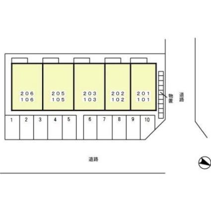 セジュールHIROーAKI[1LDK/47.52m2]の配置図
