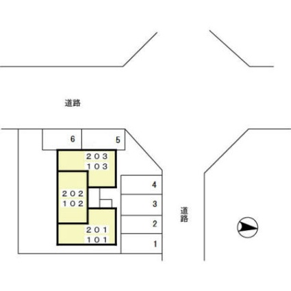 秋田県秋田市広面字碇[1K/26.87m2]の配置図
