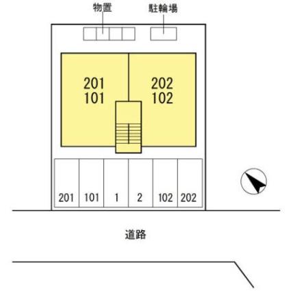 ボヌール桜[2LDK/52.57m2]の配置図