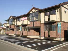 秋田県潟上市、大久保駅徒歩5分の築13年 2階建の賃貸アパート