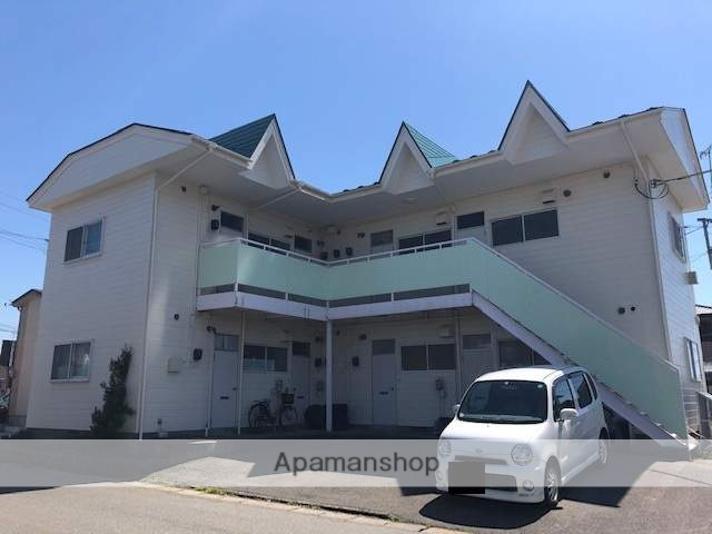 秋田県由利本荘市、羽後本荘駅徒歩20分の築30年 2階建の賃貸アパート