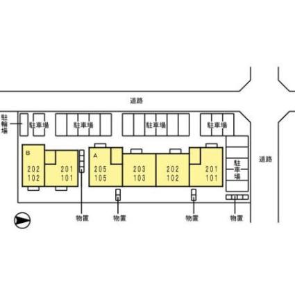 秋田県秋田市泉中央4丁目[4K/61.92m2]の配置図