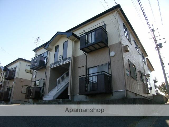 秋田県潟上市、追分駅バス5分追分農園前下車後徒歩3分の築20年 2階建の賃貸アパート