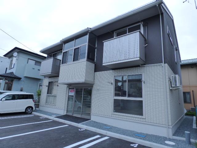 秋田県秋田市、土崎駅バス9分高野一区下車後徒歩10分の新築 2階建の賃貸アパート