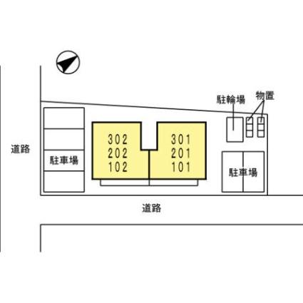 秋田県秋田市保戸野八丁[1LDK/40.92m2]の配置図