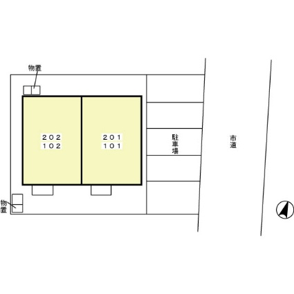 秋田県秋田市金足追分字海老穴[1LDK/47.52m2]の配置図