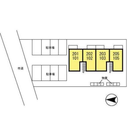 秋田県秋田市川元開和町[2LDK/50.42m2]の配置図