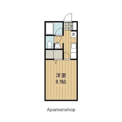 秋田県潟上市天王字追分西[1K/26.08m2]の間取図