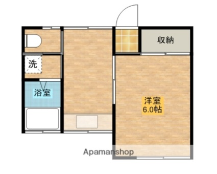 コーポ鈴木(牛島)[1K/21.11m2]の間取図