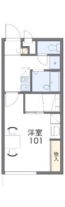 レオパレスメゾン松美台[1K/23.18m2]の間取図