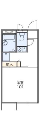 レオパレス東潟敷[1K/20.28m2]の間取図