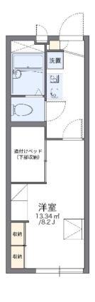 レオパレスSHIRAYAMA[1K/22.35m2]の間取図