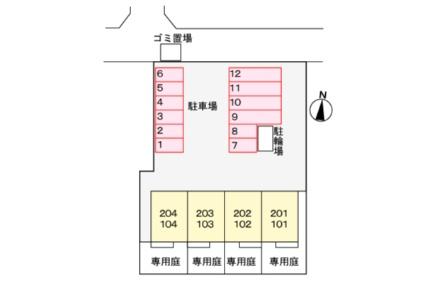 ササージュ[2LDK/67.67m2]の配置図