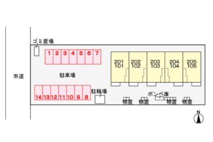 プラシードA[1LDK/48.27m2]の配置図