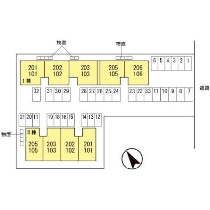 セジュール大住 Ⅱ[2DK/50.12m2]の配置図