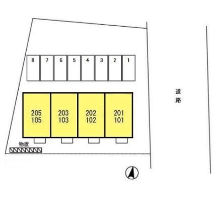 メゾンドールM[2K/29.67m2]の配置図