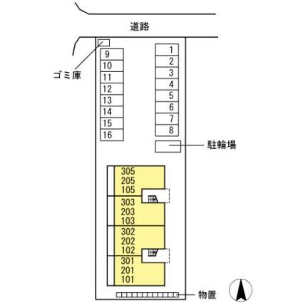 ブレジオぴあ[2LDK/58.37m2]の配置図