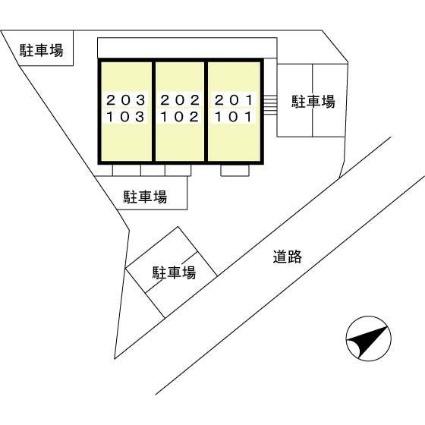 リバーサイド野村[1K/26.71m2]の配置図