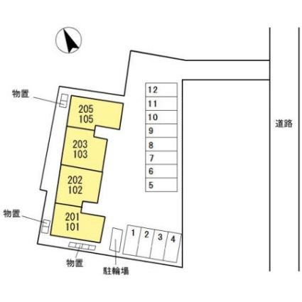 トゥインクルオルメ[2LDK/55.91m2]の配置図
