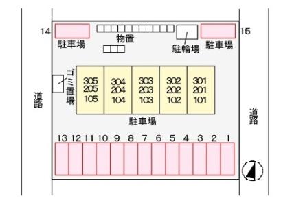 エクセラン 泉[2DK/47.61m2]の配置図