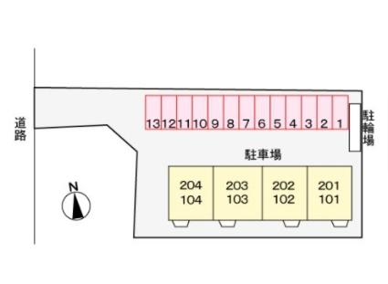 エルブス ガーデン[2LDK/51.79m2]の配置図