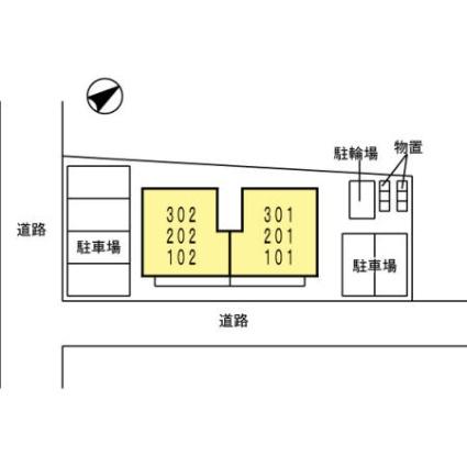 アルカディア[1LDK/40.92m2]の配置図