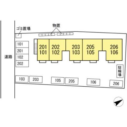 ラフィネ築地[1LDK/43.93m2]の配置図