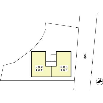 セジュール桜ヶ丘[1K/27.57m2]の配置図