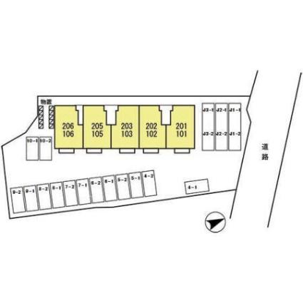 ルミエール・ユウ[1LDK/47.95m2]の配置図
