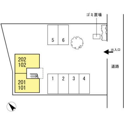 セジュール長澤[1K/26.85m2]の配置図