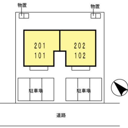 ブランシェ サライⅡ[2LDK/55.44m2]の配置図