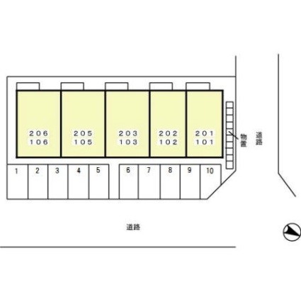 セジュールHIROーAKI[1R/34.02m2]の配置図