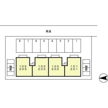 サンパティーク鎌田[1LDK/33.17m2]の配置図
