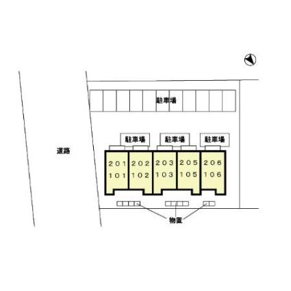ミルキー[1LDK/31.56m2]の配置図