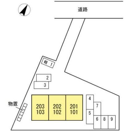 LUNE[2LDK/59.45m2]の配置図